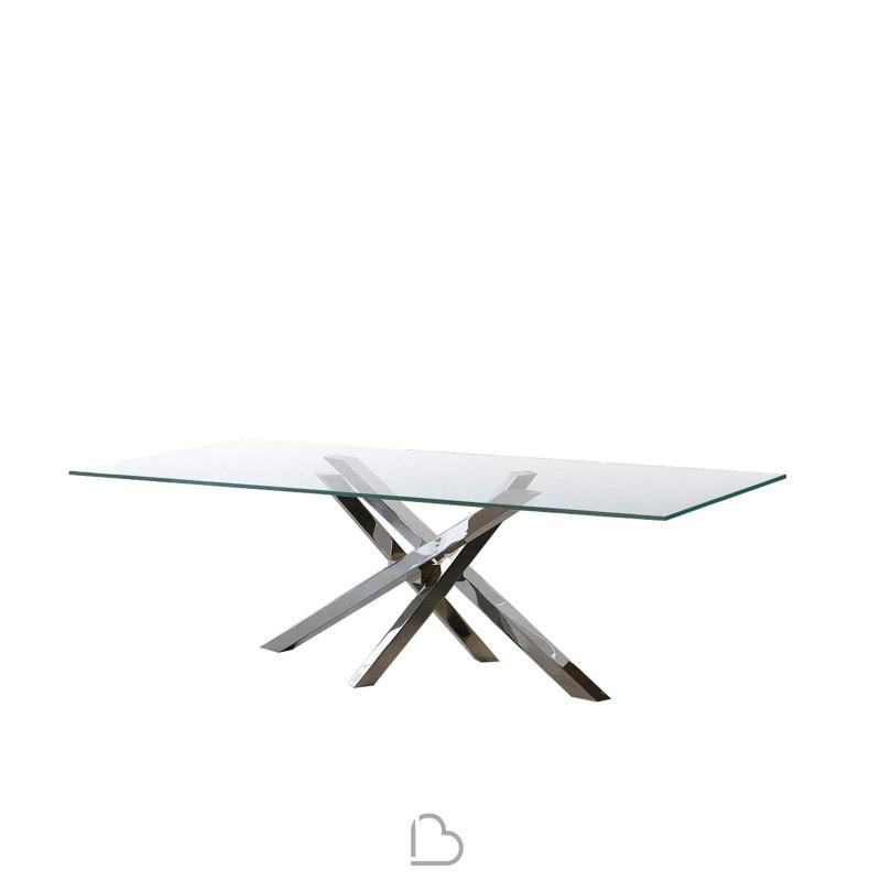 Table in aluminum Riflessi Shangai 240x120x74 cm - BartHome