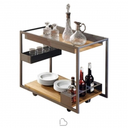 Cattelan Mojito Wood Chariot-bar