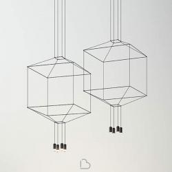 Lampada a Sospensione Quadrata Vibia Wireflow