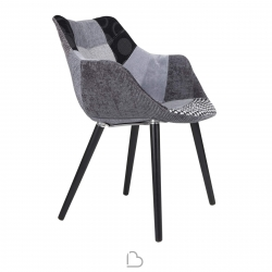 Chair Zuiver Twelve Patchwork grey
