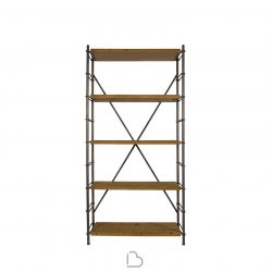Libreria Dutch Bone Iron Shelf