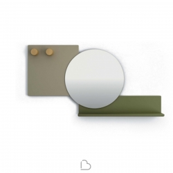 Specchio con mensola Bonaldo Piers