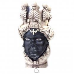 "Sicilian Ceramics of Caltagirone ""Testa di Moro"" Lady White / Black Verus"