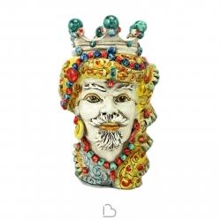 """Sicilian Ceramics of Caltagirone """"Testa di Moro"""" Man Elegance Verus"""