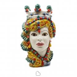 """Sicilian Ceramics of Caltagirone """"Testa di Moro"""" Lady Elegance Verus"""