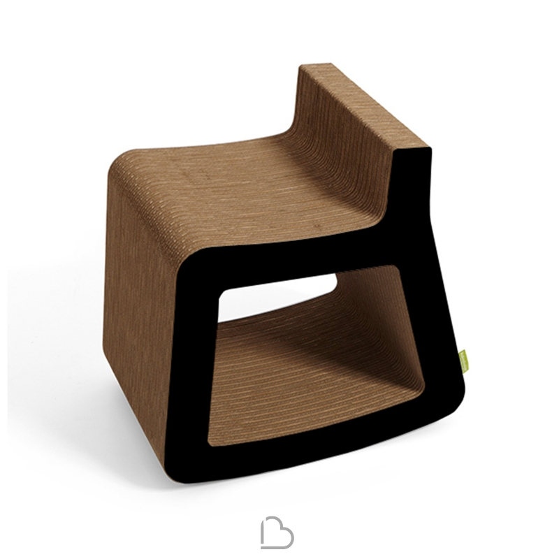Kubo Di Ozzio Design.Rocking Chair In Cardboard Kubedesign Dondolo Barthome