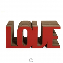 Portariviste in cartone Kubedesign Love