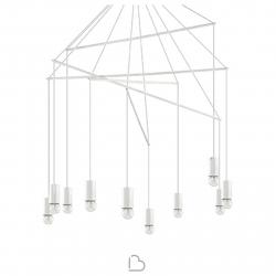 Lámpara de suspensión en metal Ideal Lux Pop
