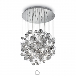 Glass Suspension Lamp Ideal Lux Bollicine