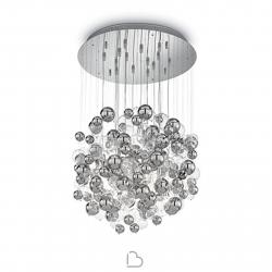 Lámpara de suspensión de vidrio Ideal Lux Bollicine