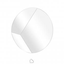 Specchio con cornice inclinata Riflessi Circle