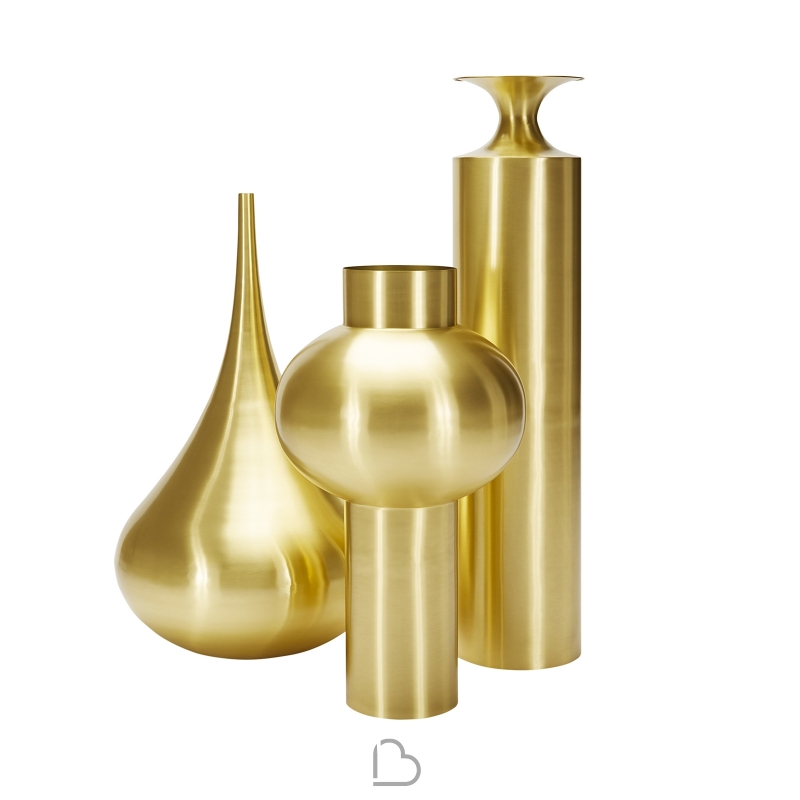 Vase Tom Dixon Beat Vessel Top Brass Barthome