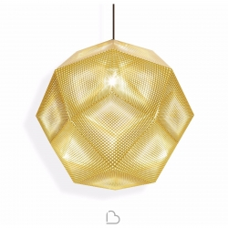 Tom Dixon Suspension Lamp Etch 50 cm Brass