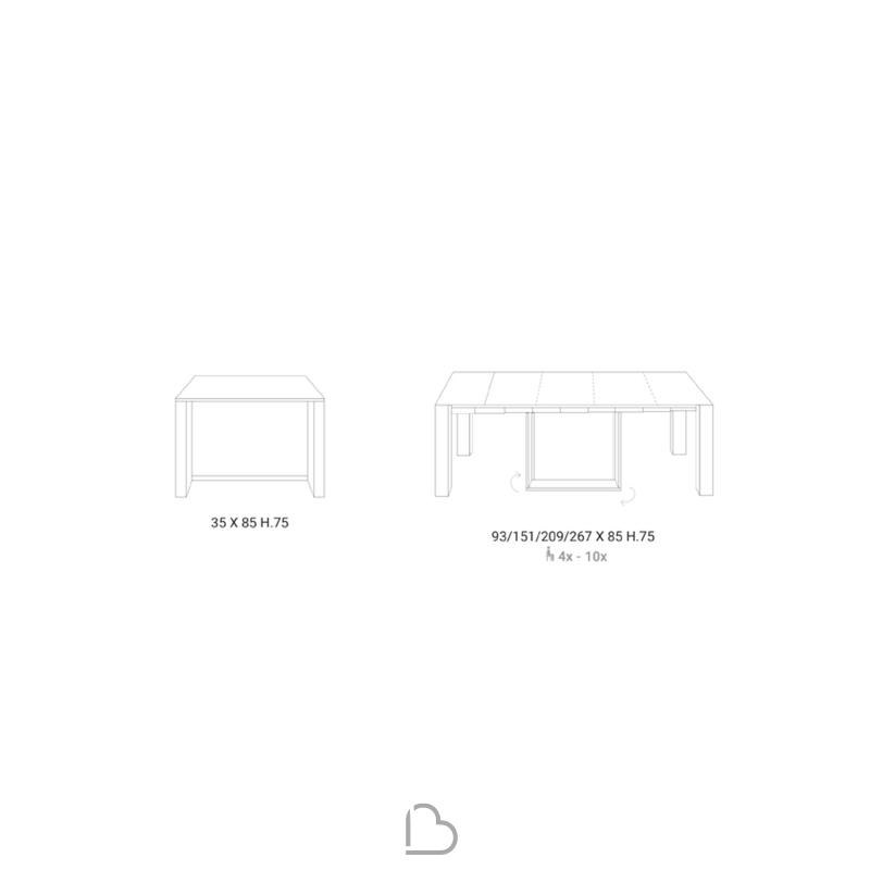 Consolle Glass Ozzio.Console Table Ozzio Italia T021 A4 Barthome