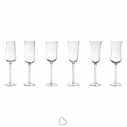 Bitossi Set 6 Bicchieri assortiti clear Diseguale