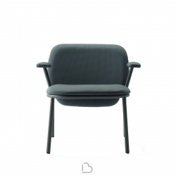 Steel armchair Ondarreta Lana Low Back