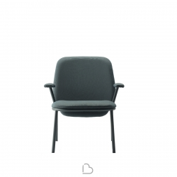 Steel armchair Ondarreta Lana High Back