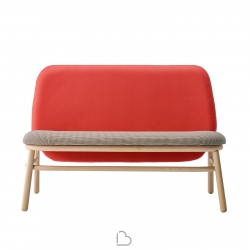 Wooden sofa Ondarreta Lana High Back