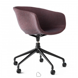 Swivel chair with wheels Ondarreta BAI