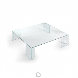 Glass coffee table Reflex Elle 40