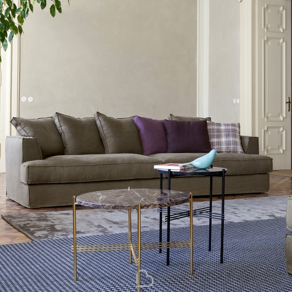 Divani E Divani Albenga.Sofa 4 Seater Flexteam Albert Gold Barthome