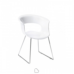 Sedia a slitta SCAB Design MISS B ANTISHOCK