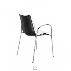 Sedia con braccioli SCAB Design ZEBRA BICOLORE