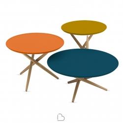Set 3 Tables basses Sculptures Jeux Pico - palette