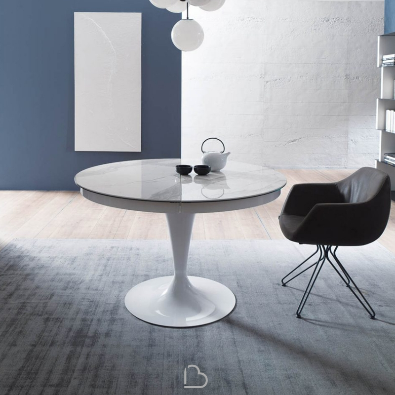 Noir Eclipse Oval Coffee Table: Table Ozzio Italia T310 Eclipse