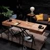 Transformable Table Ozzio Italia T111 Box Legno