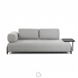 Canapè Light Home Compo 3 places avec plateau