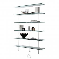 Wall Bookcase Tonelli Trasparenza