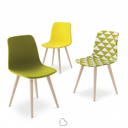 Chair with Wooden Legs Nidi POD