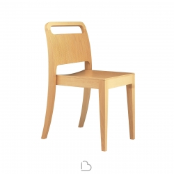 Wooden Chair Segis Moon