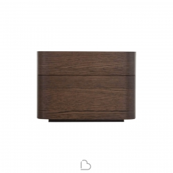 2 Drawer bedside table Novamobili Norman