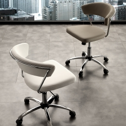 Chair with wheels La Seggiola Skin Office