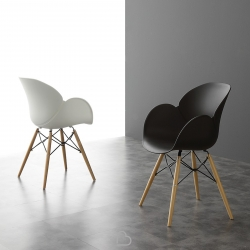 Chair La Seggiola Lotus Wood