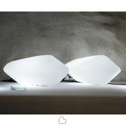 Lampada da tavolo Oluce Stone of Glass