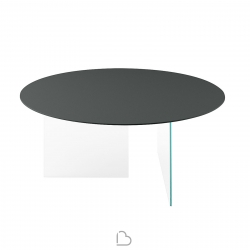 Lago Round Table Air Glass