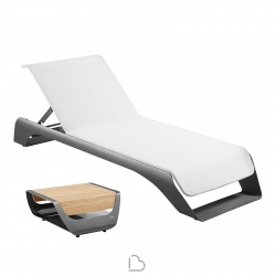 Sun loungers Higold Onda on Coffee table