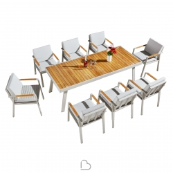 Garden set Higold Nofi Table with 8 chairs