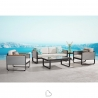 Garden set Higold Airport Sofa with 2 armchairs and 2 coffee table