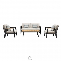Garden set Higold Sofa with 2 armchairs and coffee table