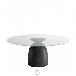 Lago Round table Janeiro Transparent glass