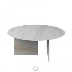 Lago Round Table Stratum XGlass
