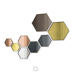 Specchio Sovet Italia Visual Hexagonal