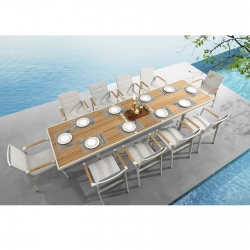 Garden set Higold Nofi Table with 10 chairs