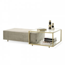 Table basse avec pouf rectangulaire Mogg Zoom