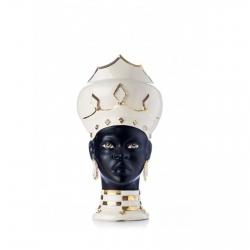"Sicilian Ceramics of Caltagirone ""Testa di Moro"" White / Black Lady Verus"