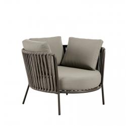 Lounge Armchair Maxi Vermobil Desiree Rope Fango